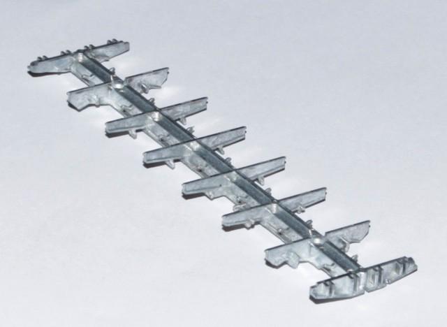 Рама масштабной модели полувагона 12-132, 12-296, 12-132-03